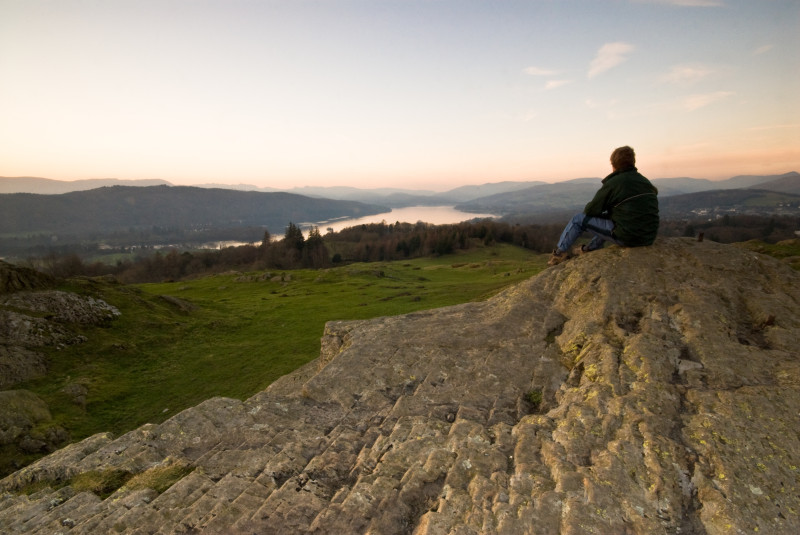 A place to contemplate the world. Here is a photo of one of the viewpoints located behind our guest house. Brantfell is about 40 minutes' walk from our front door. Enjoy this stunning scenery when you stay at Blenheim Lodge. (Photo courtesy of www.cumbriaphoto.co.uk.)