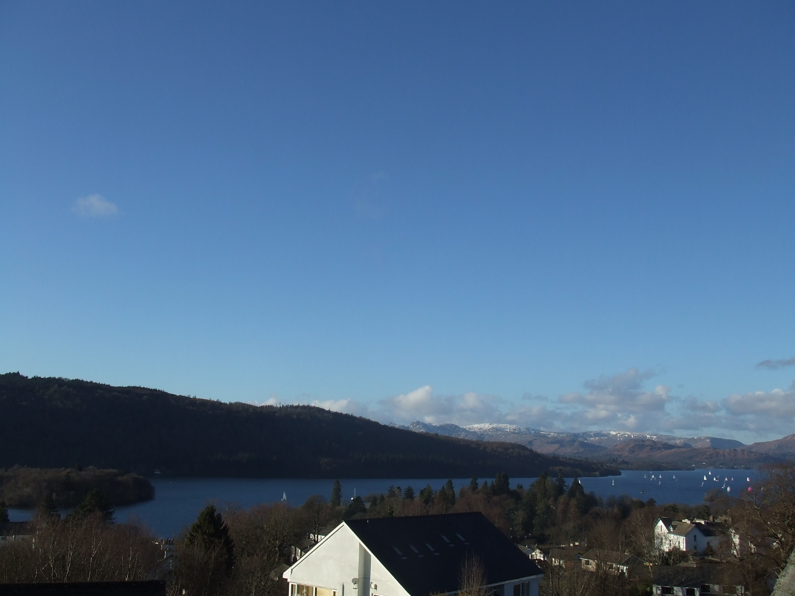 lake windermere with yachts