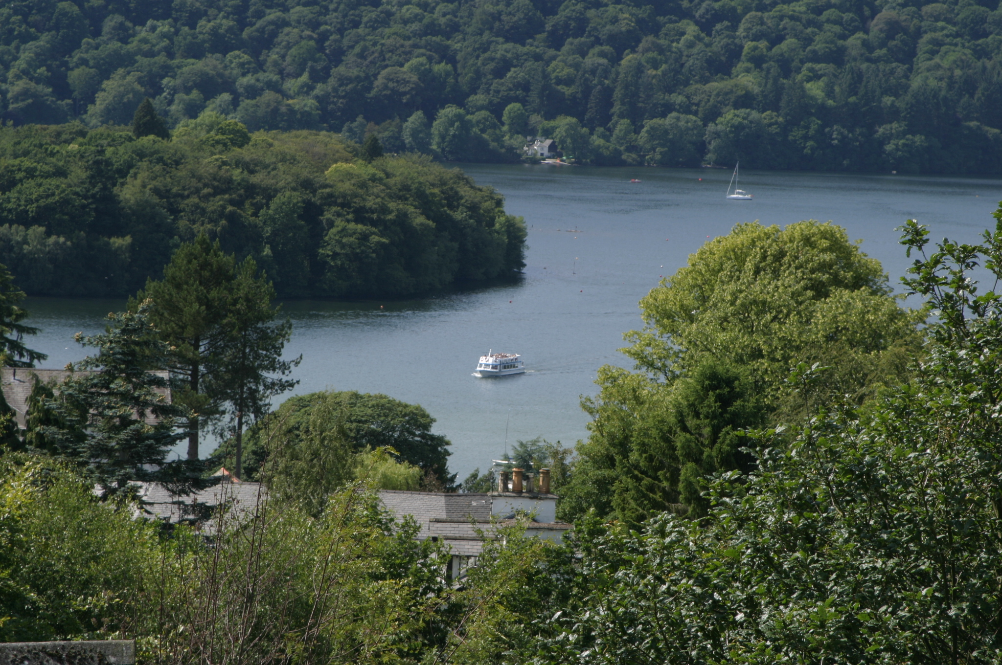 Lake Windermere with boat
