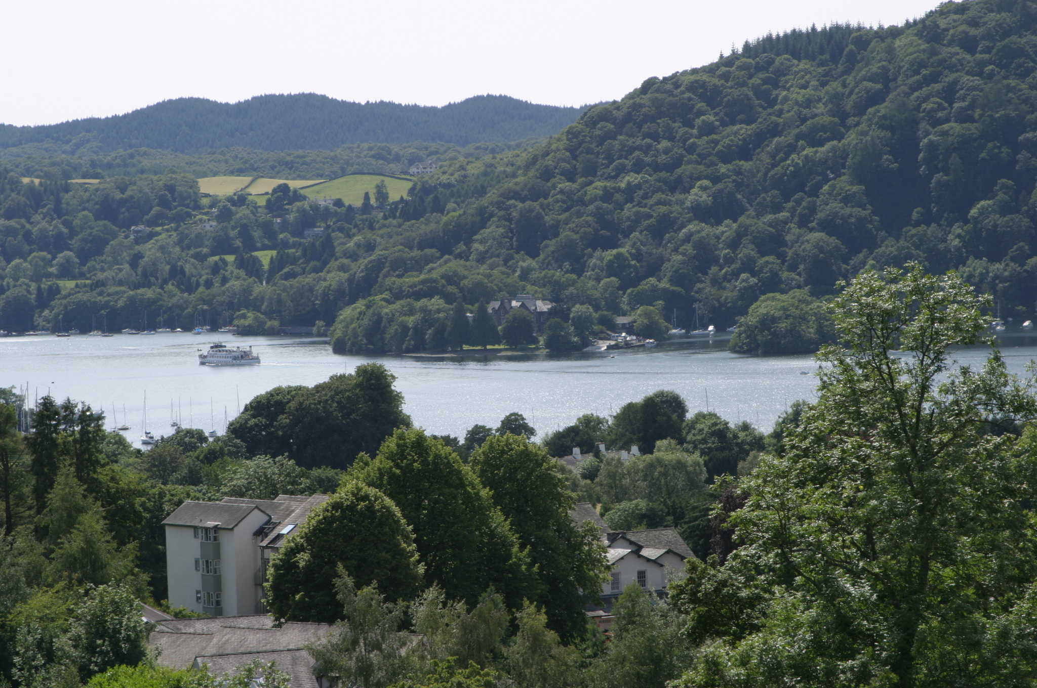 A beautiful view of Lake Windermere and its surrounding mountains from The Attic room at Blenheim Lodge. Admire spectacular scenery from your room and enjoy the Lake close up on Windermere Cruise ferry which you can board just 7 minutes' walk from Blenheim Lodge.