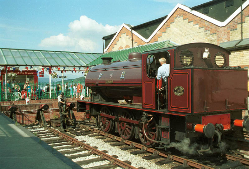 This is Furness Railway no 150 'Cumbria' at Lakeside Station, Lakeside, about 5 miles from Blenheim Lodge, Bowness-on-Windermere. (Photo courtesy of www.visitcumbria.com/sl/lakeside-and-haverthwaite-railway.htm.)