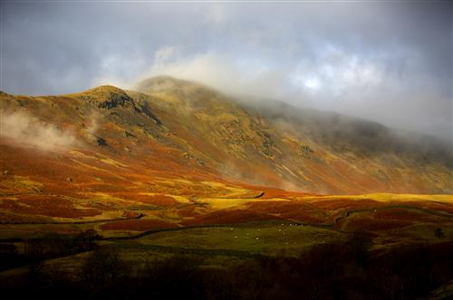 A stunning view of the Grasmere fells in Autumn. (Photo courtesy of www.cumbria.co.uk.)