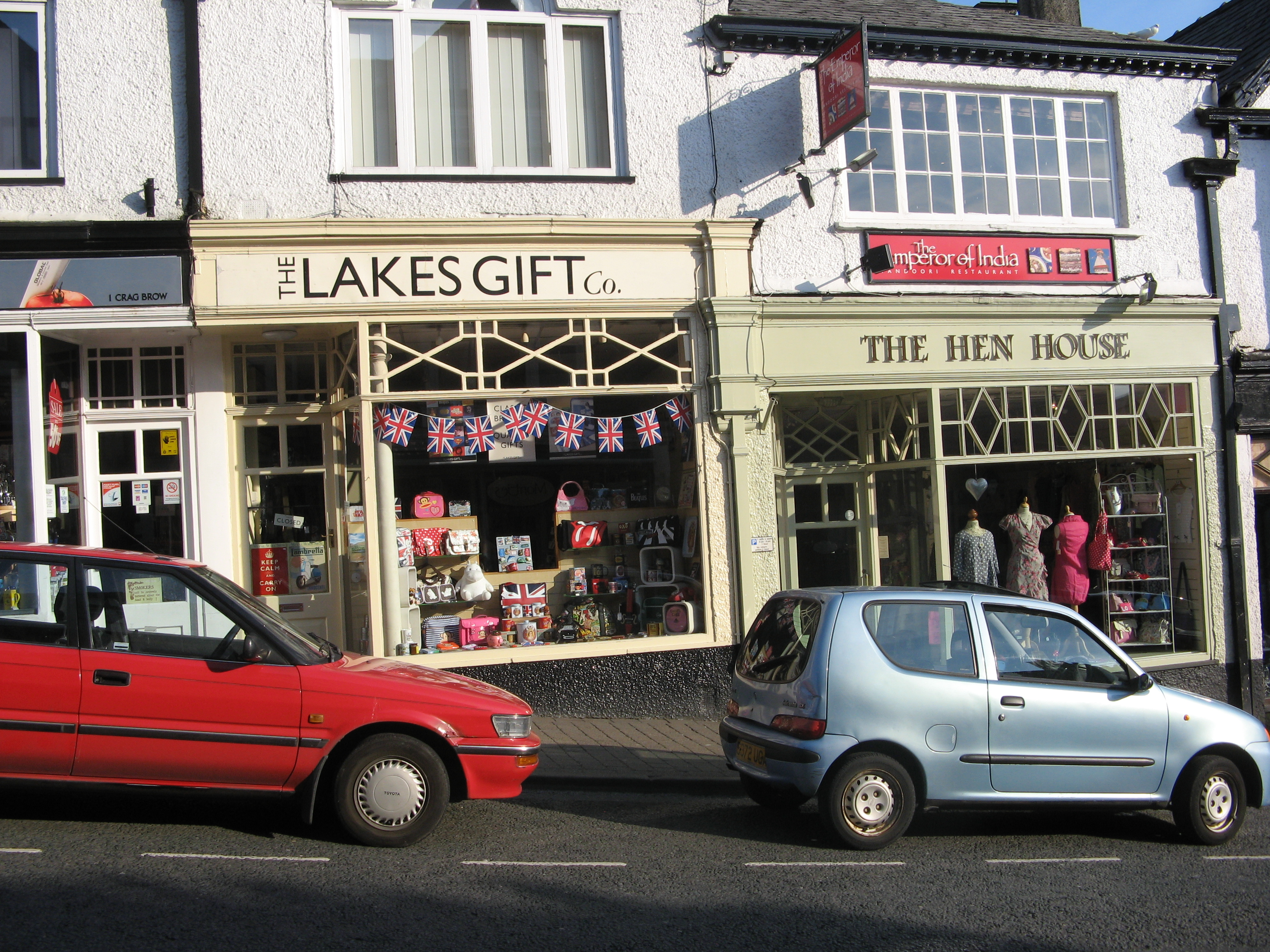 The high street in Bowness-on-Windermere, variously known as Crag Brow, Lake Road etc.