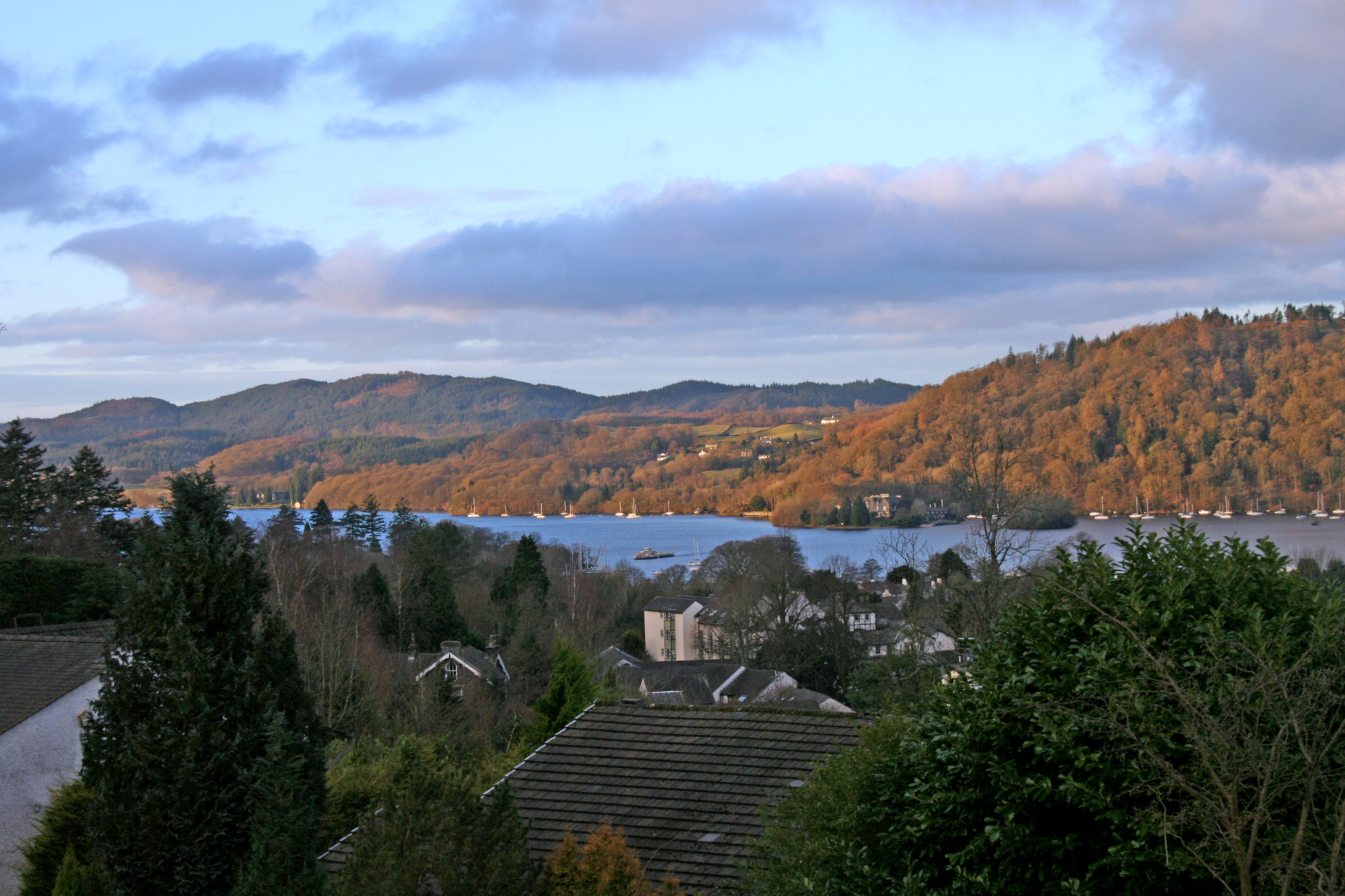 panoramic lake windermere views, blenheim lodge, lake district