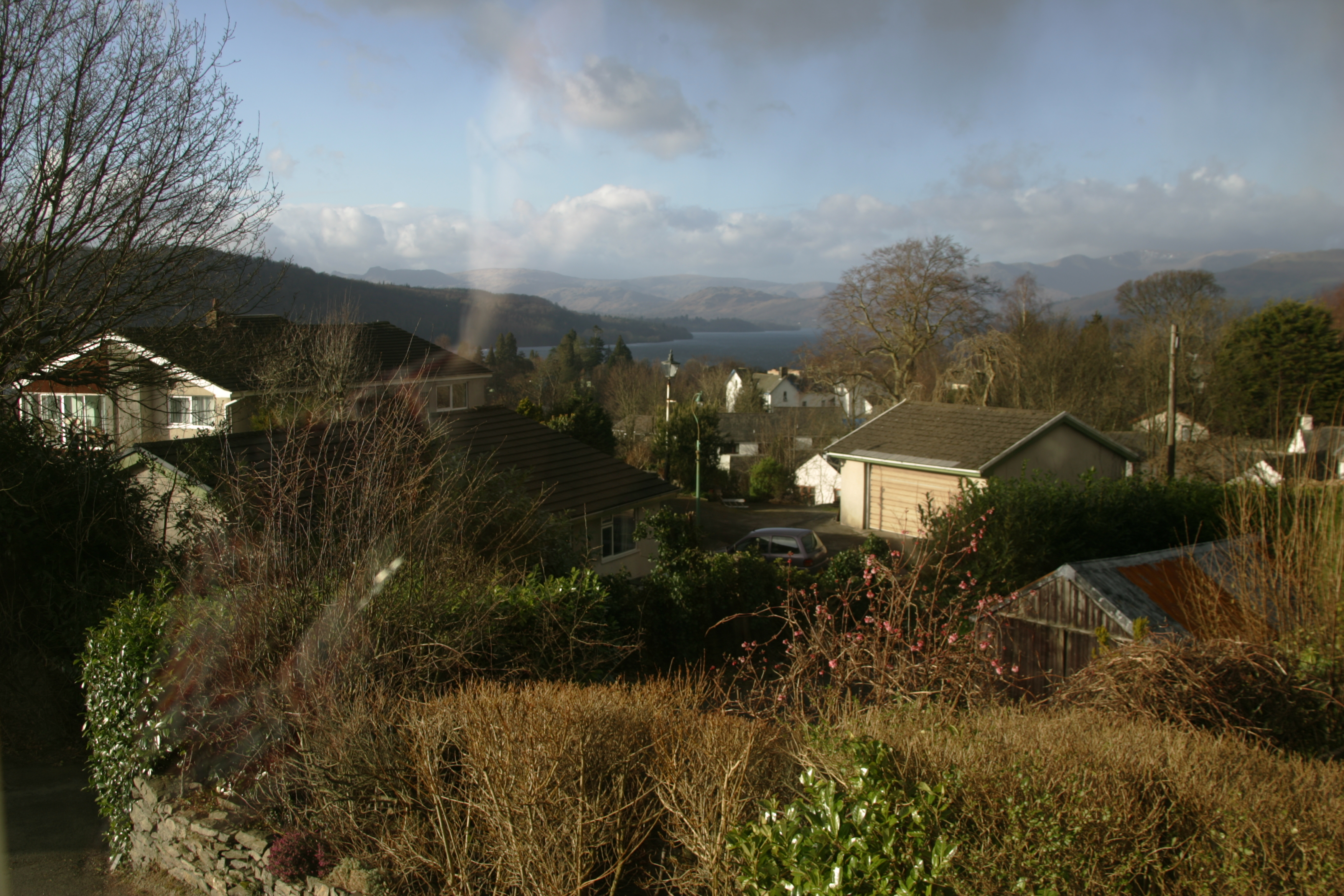 view from blenheim lodge, bowness on windermere, lake district, cumbria