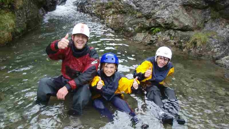 Ghyll scrambling with Mobile Adventure. (Courtesy of www.visitcumbria.com/activities/ghyll-scrambling)