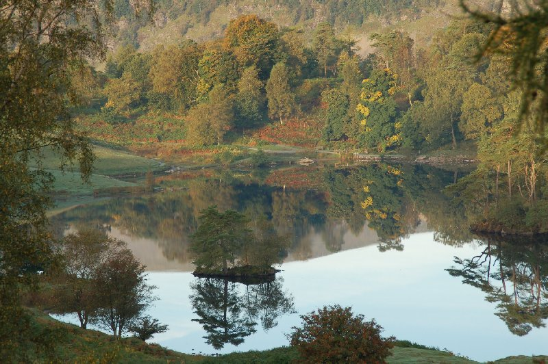 Early autumn colours at Tarn Hows. (Photo taken by Tony Richards.)