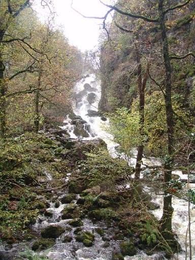 lodore falls, lake district, keswick