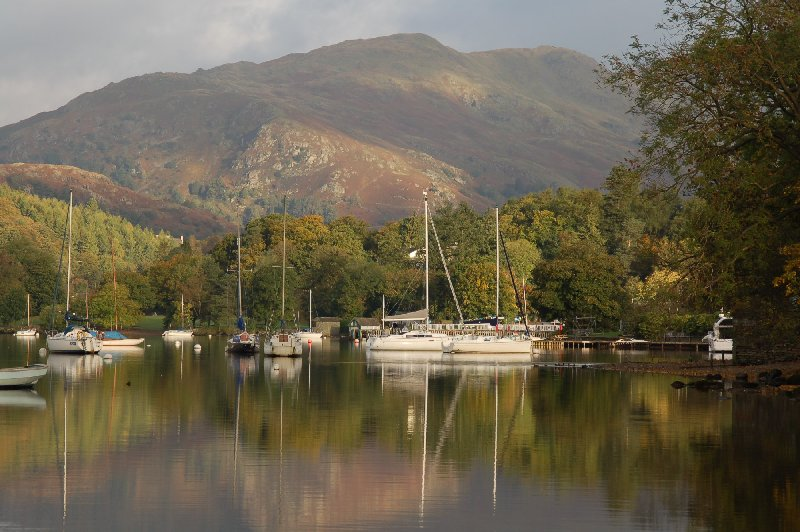 Waterhead, one of the lakeside destinations serviced Windermere Lake Cruises.