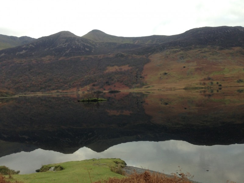 We parked in a lay-by overlooking peaceful Crummock Water, Lake District.