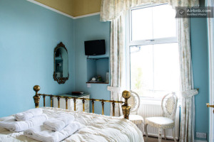 One of our standard en-suite rooms at Blenheim Lodge, The Blue Room enjoys views of Lake Windermere to the fells beyond.