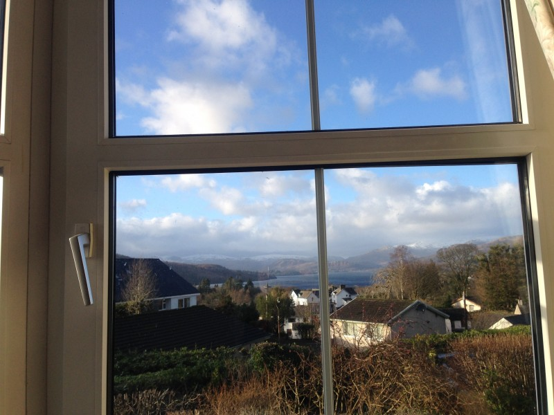 A beautiful day to enjoy off-roading in the Lake District National Park. This photo of Lake Windermere and the fells was taken from our lounge window at Blenheim Lodge.