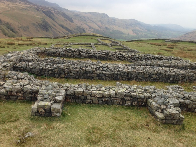 Hardknott Fort, built in early 2 A.D.