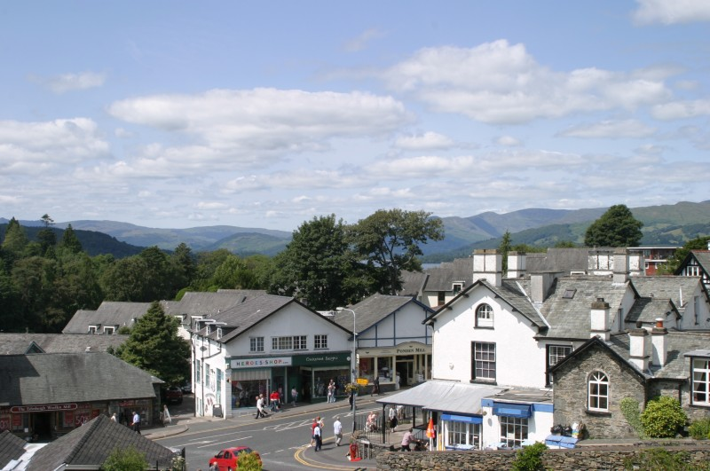 This is Bowness-on-Windermere's main street, just a 3-5 minute walk from our guest house, Blenheim Lodge B&B.