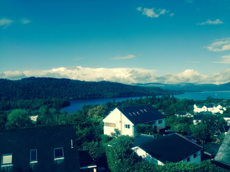 Lake Windermere and the fells as seen from one of our bedrooms at Blenheim Lodge.