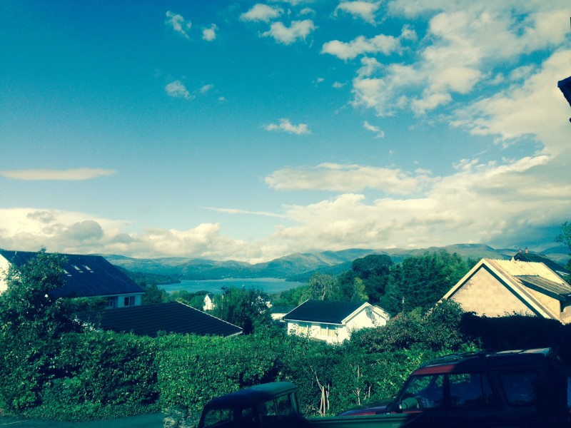 A view of Lake Windermere and the fells taken from our guest lounge at Blenheim Lodge, Bowness-on-Windermere.