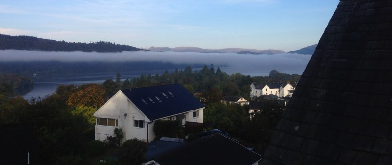 The inversion lasted the morning of 7th October. Here is a photo of this weather phenomenon as taken from The Eyrie single room.