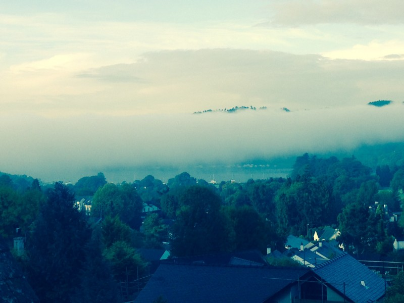 This rather misty inversion was taken from The Attic room at Blenheim Lodge.