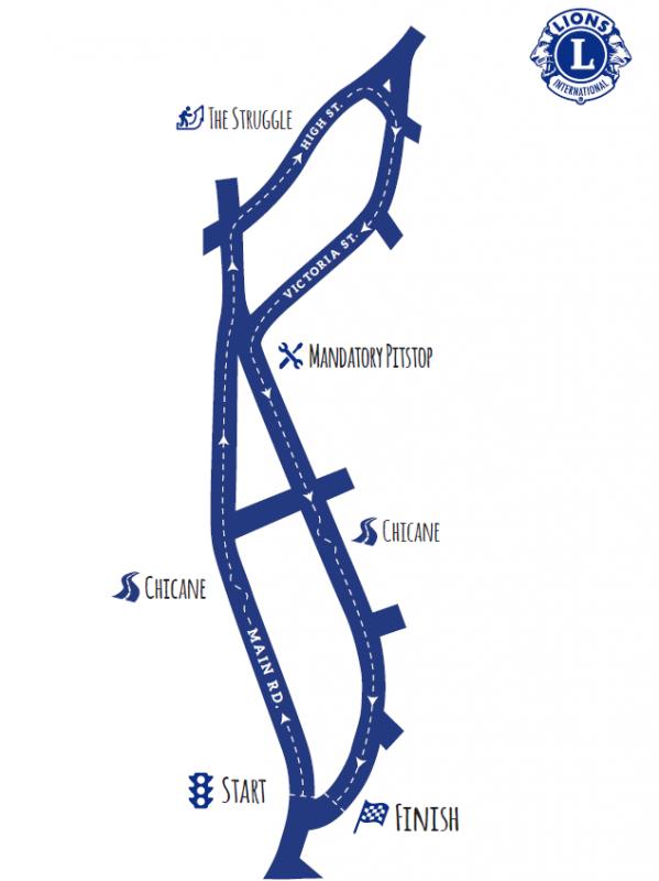 Map of Windermere Pram Race on 1st January 2015. Photo curtesy of http://www.windermerepramrace.co.uk/wp-content/uploads/2014/10/map.png.