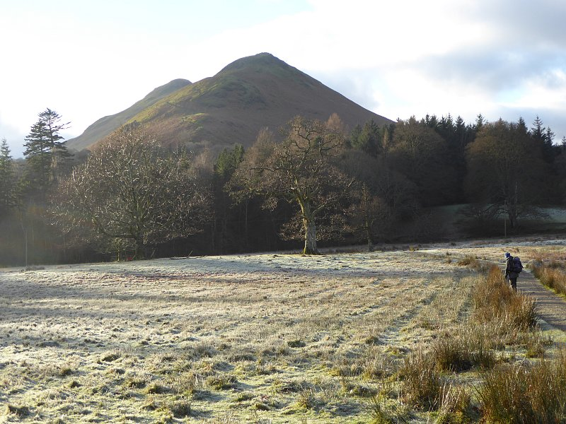 'Catbells across frosty fields' by Ann Bowker.