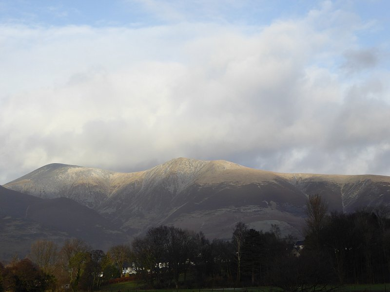 Blencathra after the recent rains. Photo courtesy of Ann Bowker.
