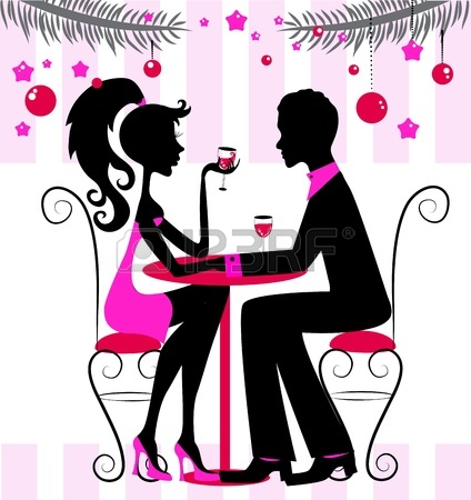 'Just the two of us'. Image by http://www.123rf.com/photo_16407118_silhouette-of-the-couple-romantic-new-year-or-christmas-dinner-illustration.html?term=valentine
