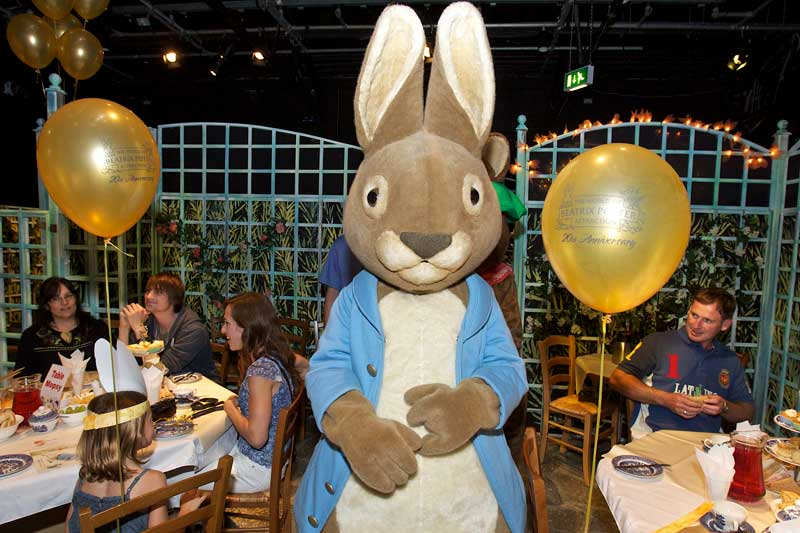 Party with Peter Rabbit at The World of Beatrix Potter Attraction. (Courtesy of www.hop-skip-jump.com/explore/gallery/)