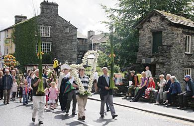 Ambleside Rushbearing. (Photo by http://www.amblesideonline.co.uk/clubs/rushbearing/main.html)
