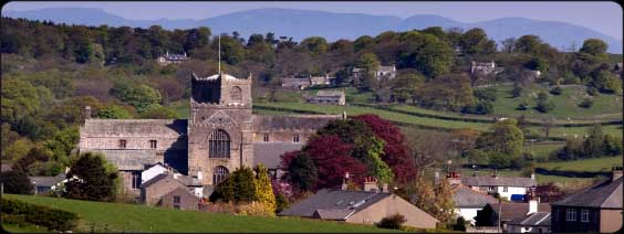 The picturesque village of Cartmel with its medieval priory founded in 1190. Photo courtesy of http://www.cartmelvillage.com/index.html.