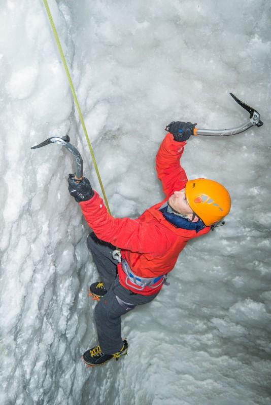 Climbing an ice wall indoors. (Photo courtesy of http://www.kingkongclimbingcentre.co.uk/facilities-2/ice-wall/#prettyPhoto.)