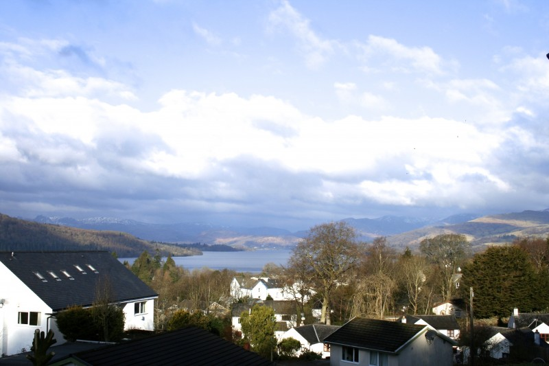 This stunning view of Old Bowness, Lake Windermere and the fells was taken from The eyrie, from one of our single en-suite rooms.