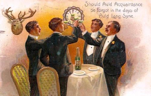 'Auld Lang Syne', written by Robert Burns, is often sung on New Year's Eve. (Photo courtesy of http://www.glossophilia.org/?p=5415.)