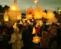 The Ambleside Lantern Parade takes place every third Saturday of November. (Photo courtesy of www.amblesidechristmaslights.co.uk)