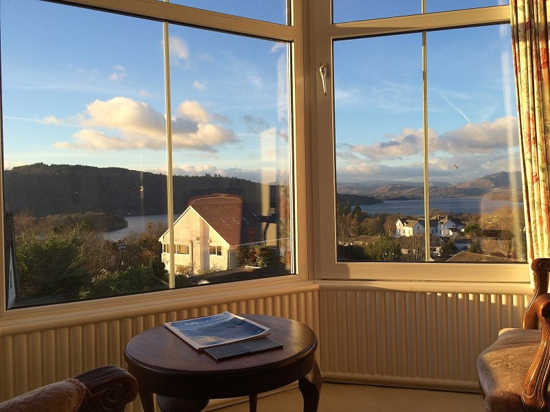 This view is only half the vista guests see from The Langdale room.