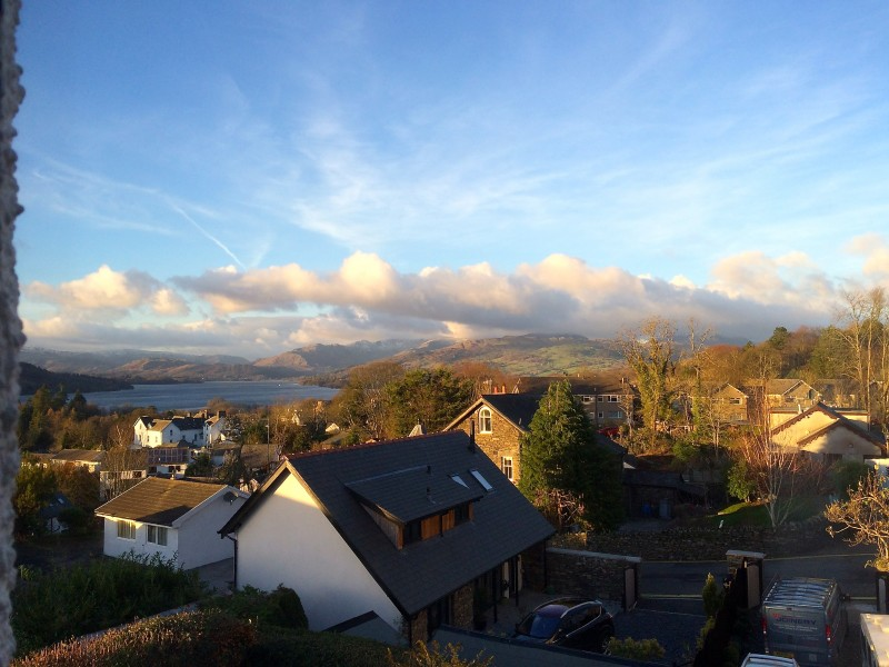 The views from our Bowness B&B is stunning! This is what one sees when staying in Belle Isle, one of our single bedrooms.