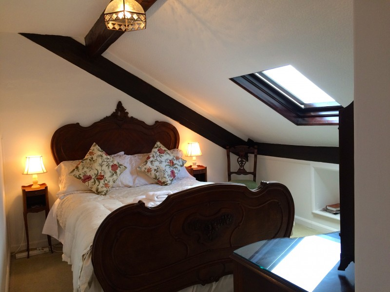 Photo of The Attic, a quirky double room under the eaves with a fabulous view of Lake Windermere and the mountains.