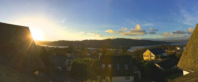 This wonderful panorama of Old Bowness, Lake Windermere and the mountains beyond was snapped from The Eyrie single bedroom. This same view can be seen from The Attic and other front facing guest rooms.
