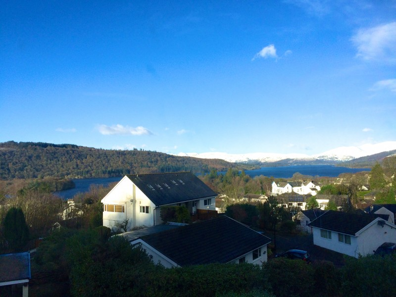 Your view from Blenheim Lodge Bed and Breakfast in Bowness-on-Windermere. Enjoy this view from our guest house when you stay with us.