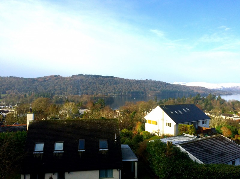 Today's view from The Eyrie, a sweet single en-suite room situated under the eaves at Blenheim Lodge B&B.