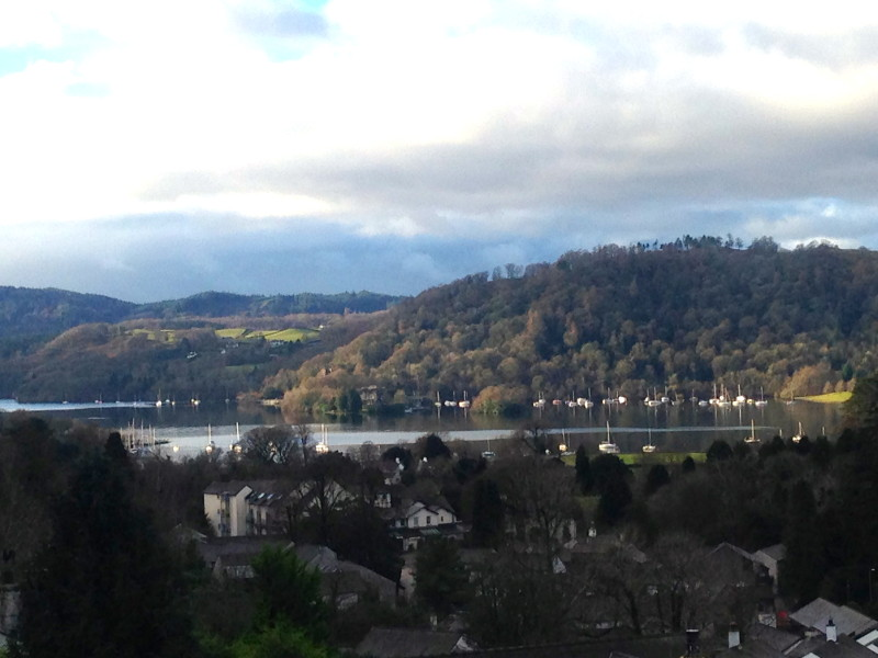 From The Attic, there are overarching views of Lake Windermere and the fells. This is the view on the left and the view above is what one sees on the right of the window.