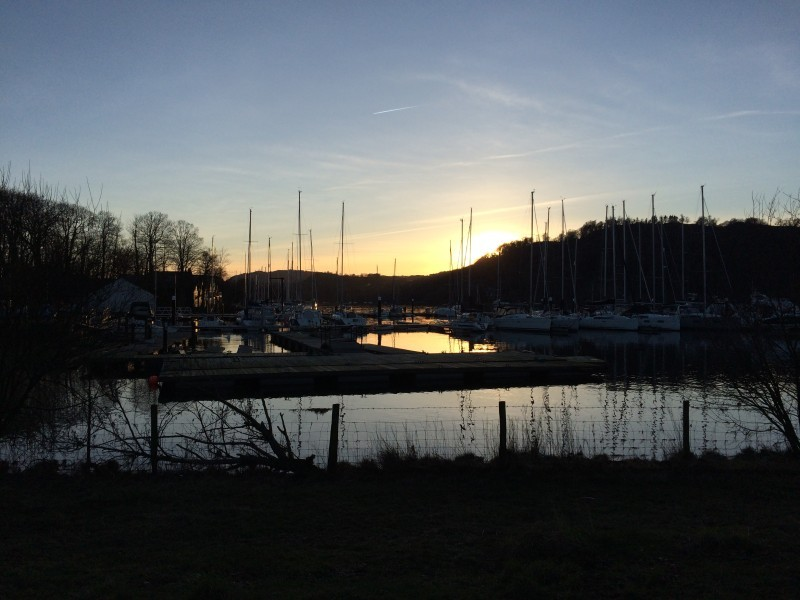 Only 5 minutes from where we have our Bed and Breakfast, Blenheim Lodge, is Lake Windermere. The day was fine so we went for a short walk along its shores on 15th February 2016.