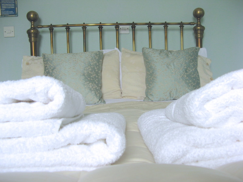 'Like sleeping on a cloud!' says some of our guests about our bed in The Blue Room.