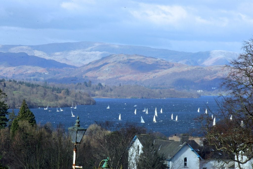 Sailing in Bowness on Windermere