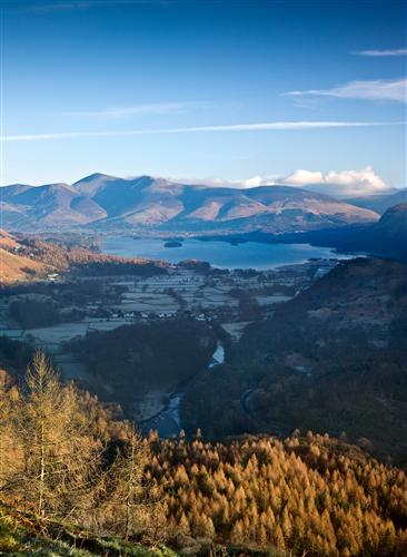 'View over Borrowdale to Derwent Water and Skiddaw from Castle Crag.' By Ben Barden.