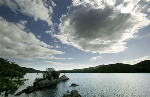 Peel Island on Coniston Water, by Tony West.