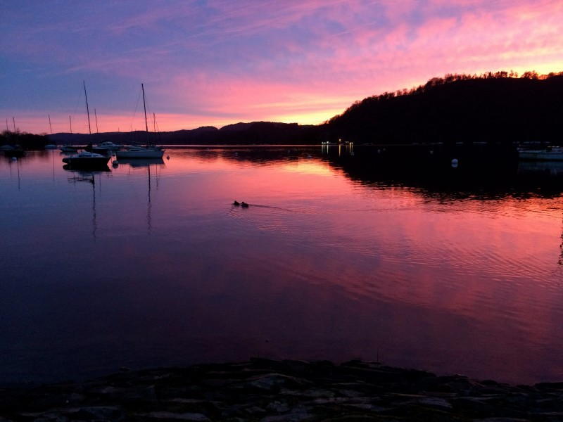 Lovely Lake Windermere at sunset when I went for a walk one day.