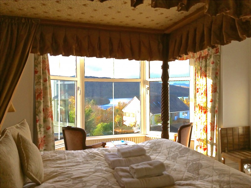 Enjoy a break with us at Blenheim Lodge. The Langdale 4-Poster room boasts outstanding Lake and fell views.