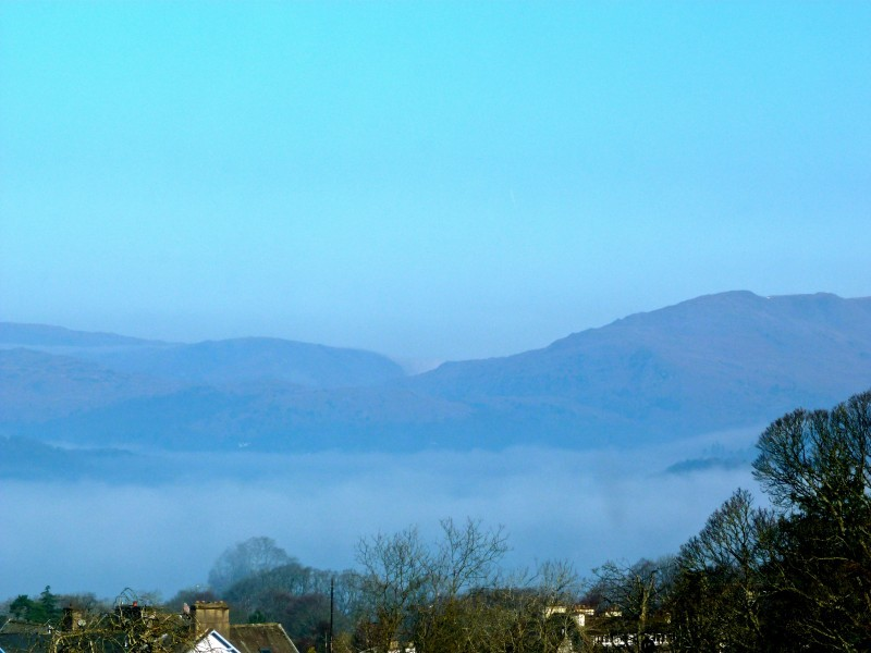 I love waking up to mist on the Lake. This is the northern side of Lake Windermere onto which The Fairfield overlooks.