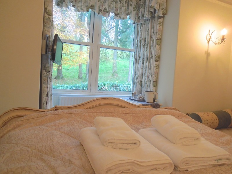 The most lovely tranquil views from The Dalesway room. Laze in the pretty Louise XV antique bed and relax!