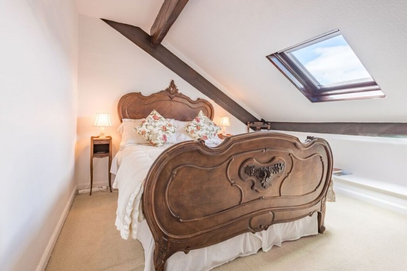The Attic room at Blenheim Lodge has a Velux window opening onto panoramic Lake and fell views.